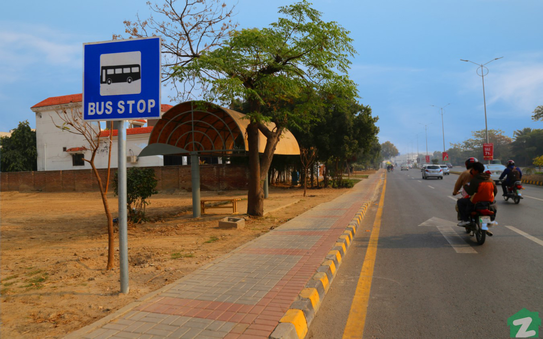 bus stop in dha lahore