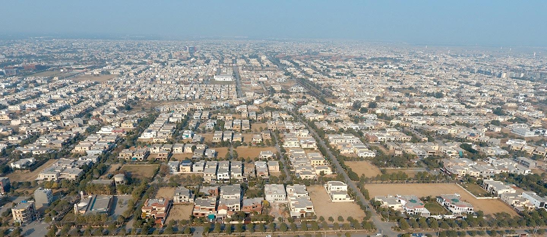 Arial view of DHA Phase 7 Karachi