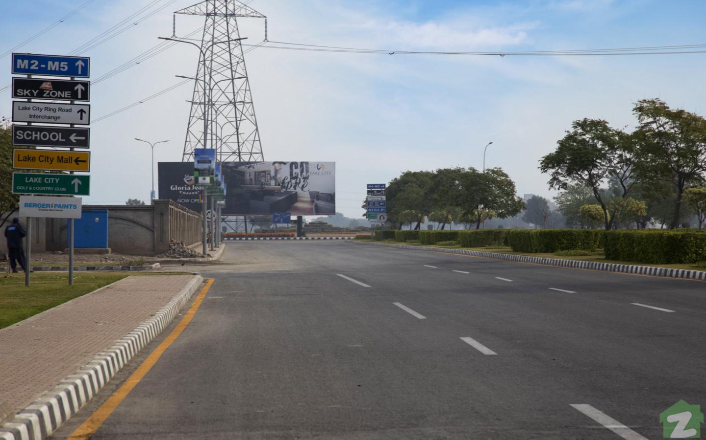 Main Boulevard of Lake City Lahore