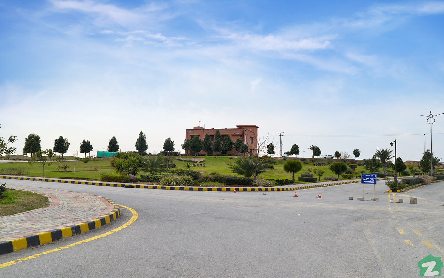 Green Belts in Top City 1 Islamabad