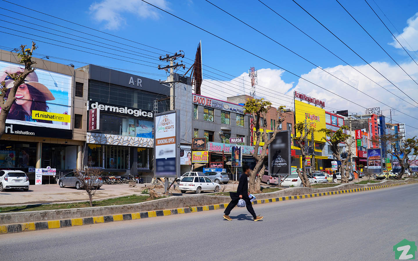 Street view of commercial property in PWD Housing Scheme