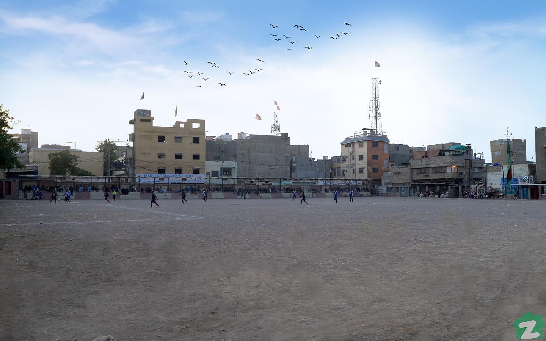 football ground in Gulshan-e-Iqbal Karachi, soccer