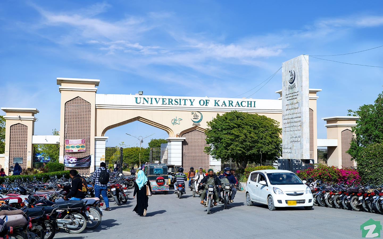 University of Karachi near Gulshan-e-Iqbal Karachi