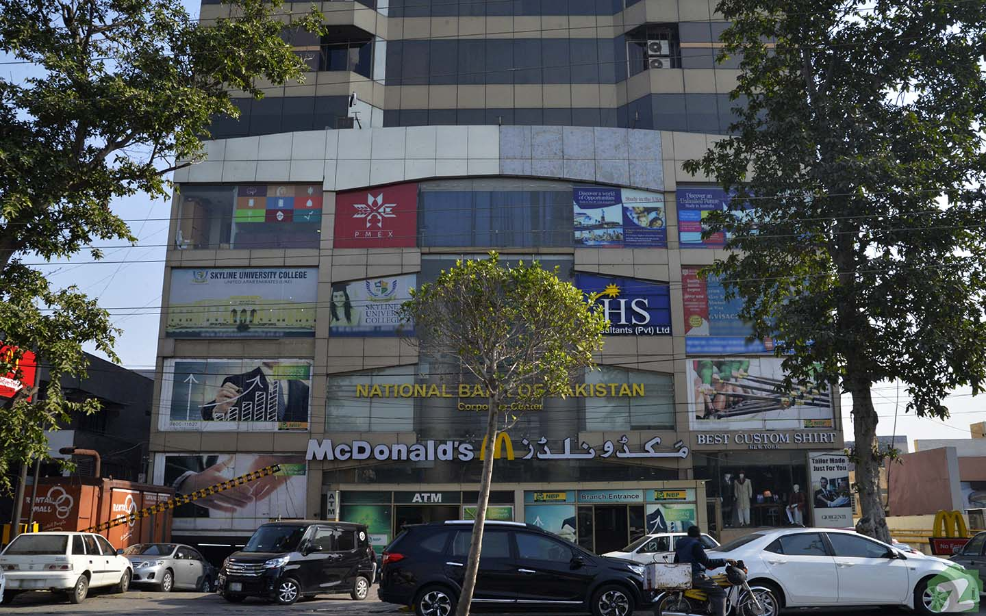 National Bank of Pakistan is quite popular in the area.