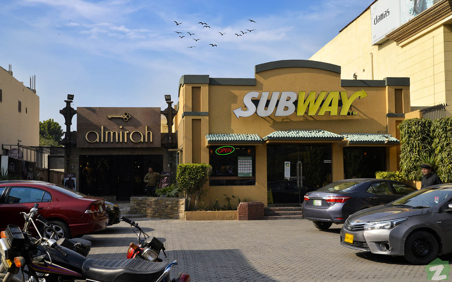 Subway on MM Alam Road Lahore