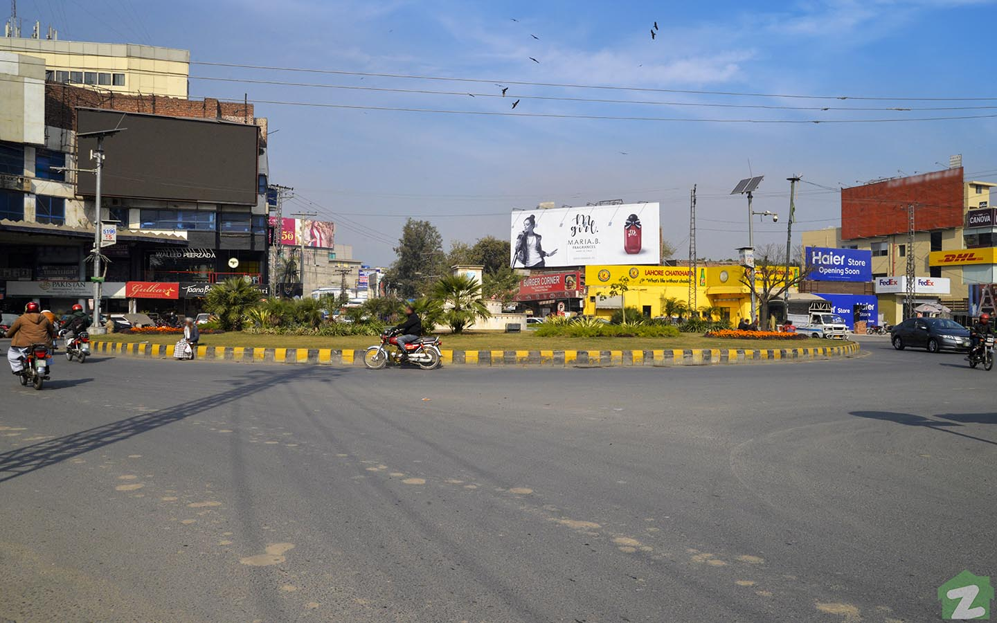 MM Alam Road Lahore round about
