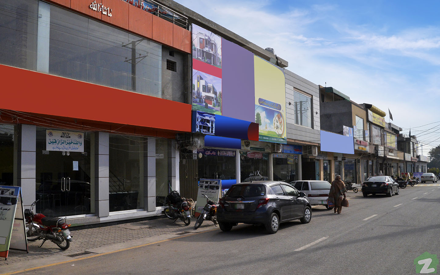 commercial area of Phase 2 of Al Rehman Garden Lahore