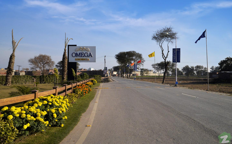 roads of Omega Residencia Lahore
