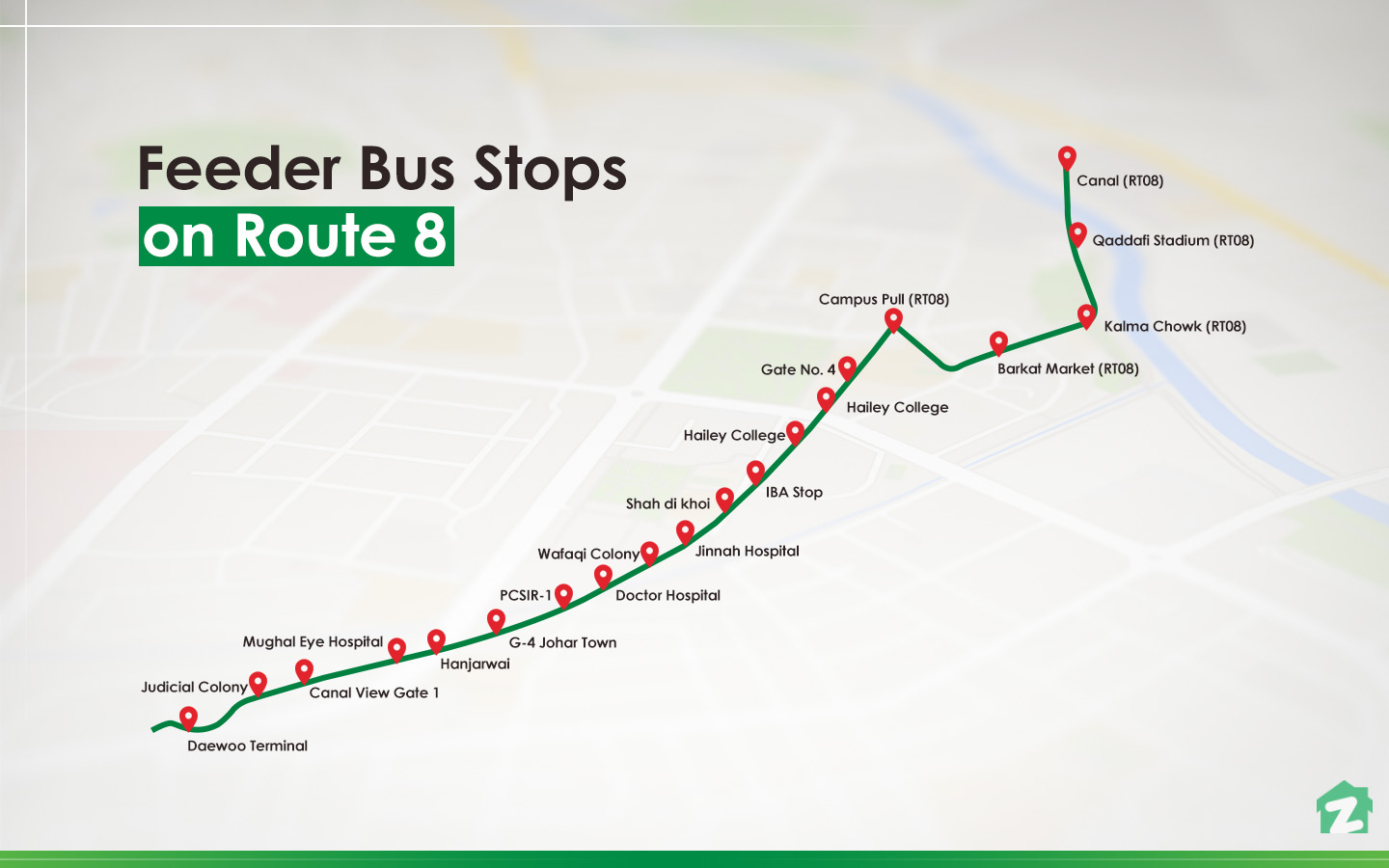 Block G of Johar Town boasts one of the bus stops for feeder buses.