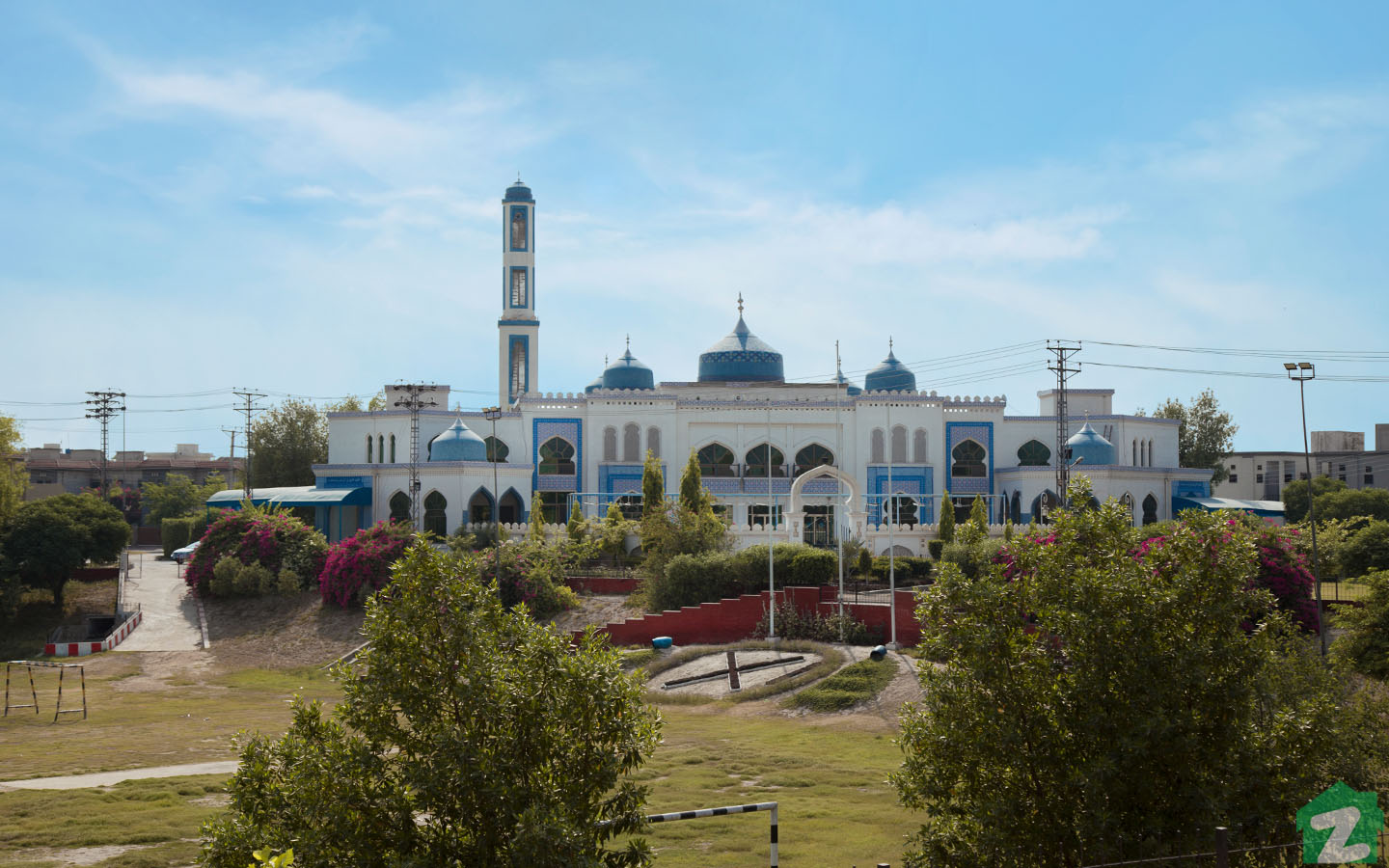 There is a beautiful spacious mosque in each sector of Askari 11 Lahore