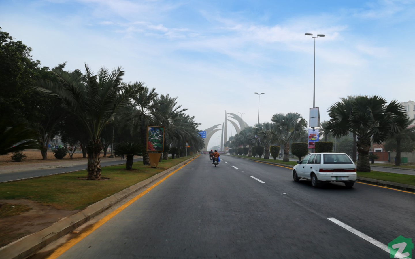 Street view of Bahria Town Lahore