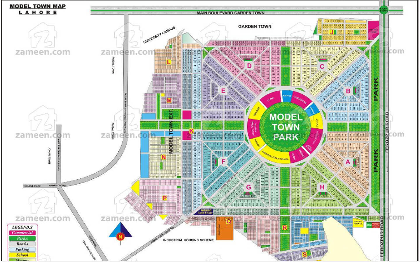 Development Plan of Model Town, Lahore