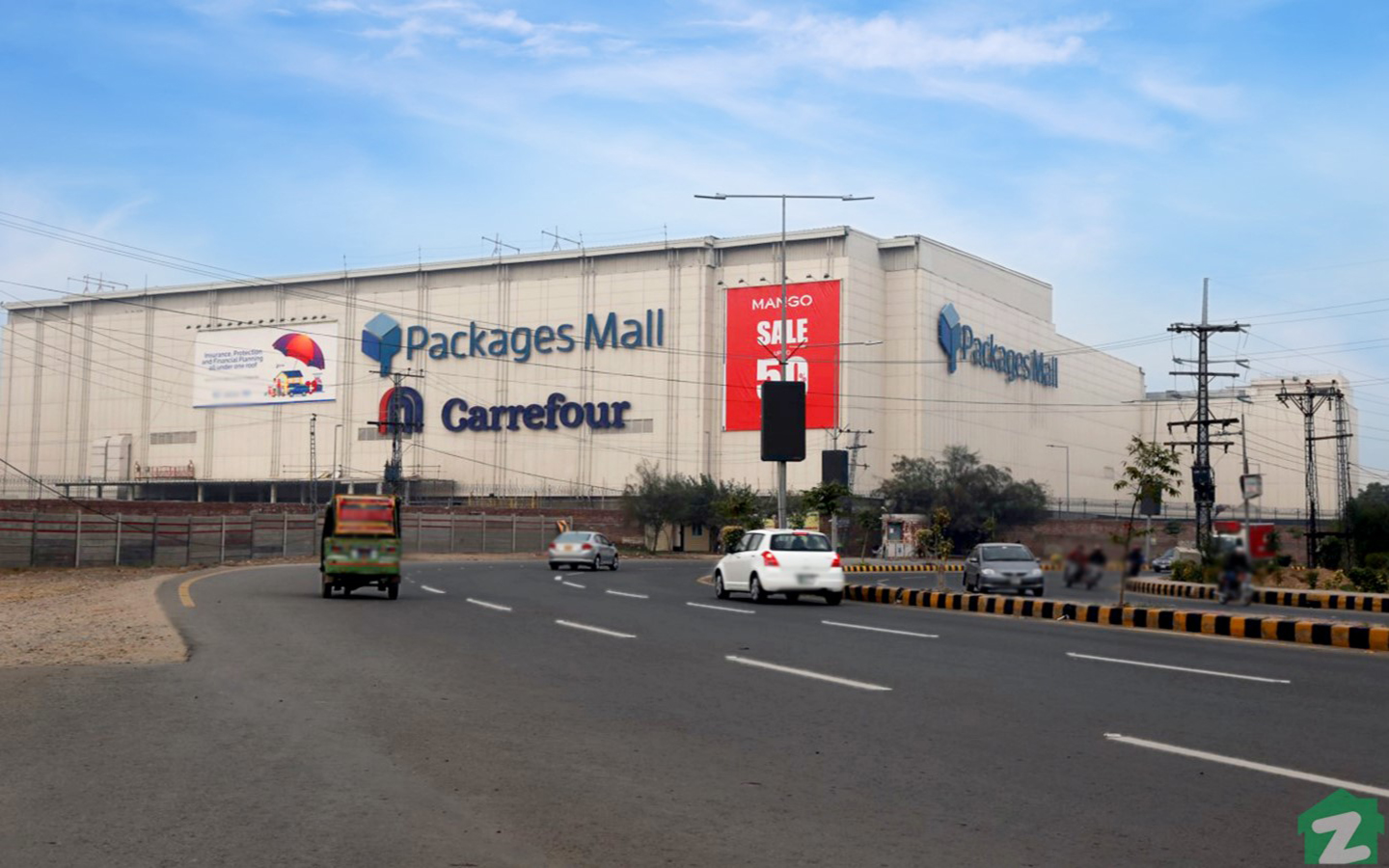 Residents of the town can also shop from Packages Mall