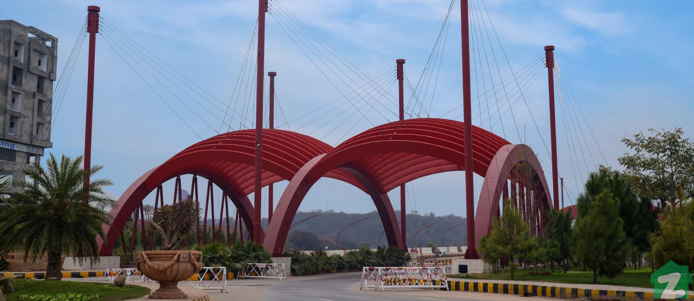 Entrance of Gulberg Islamabad