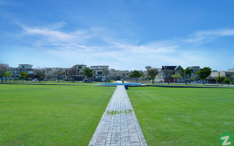 A park in Media Town Rawalpindi