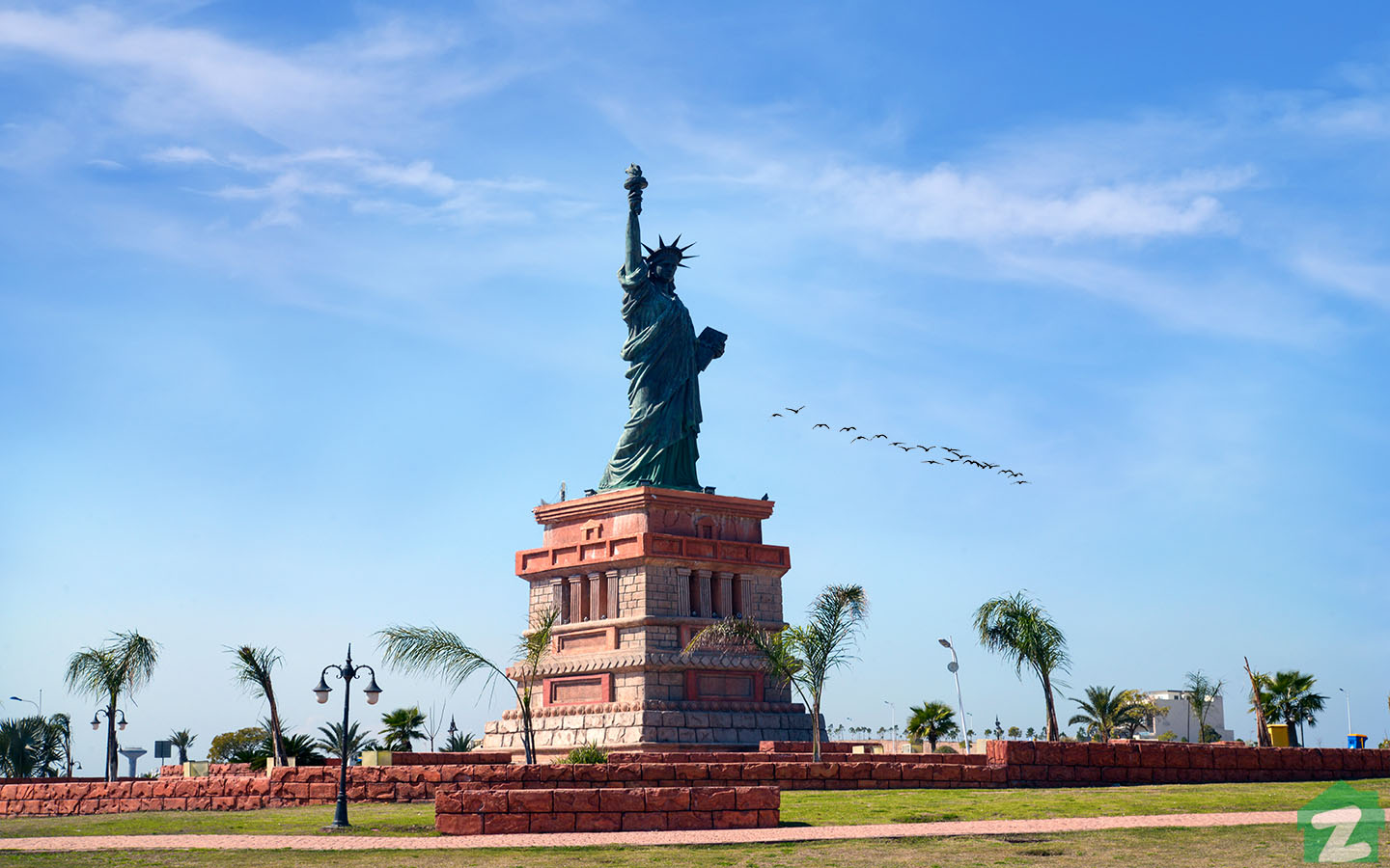 Statue of Liberty Replica located in Bahria Town, Phase 8, Rawalpindi