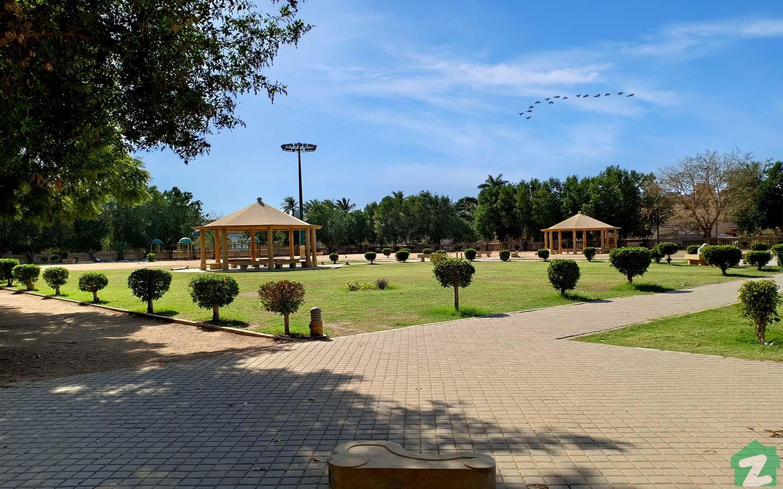 relaxing spot in Tikon park in North Karachi
