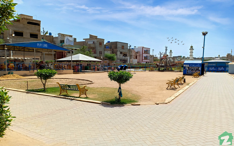 Golden park in malir town