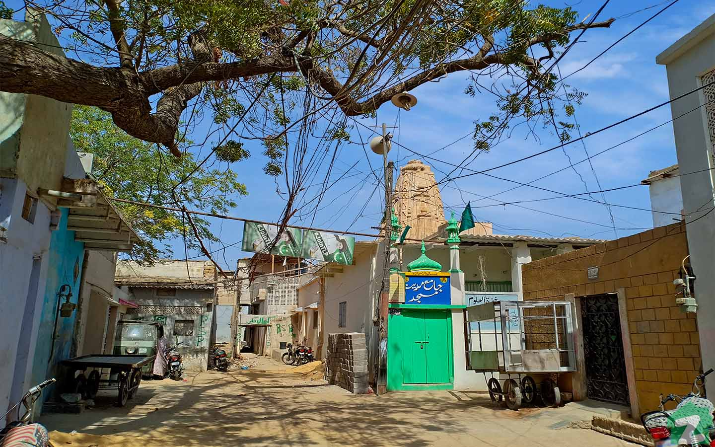 A prominent hindu temple in Malir Town