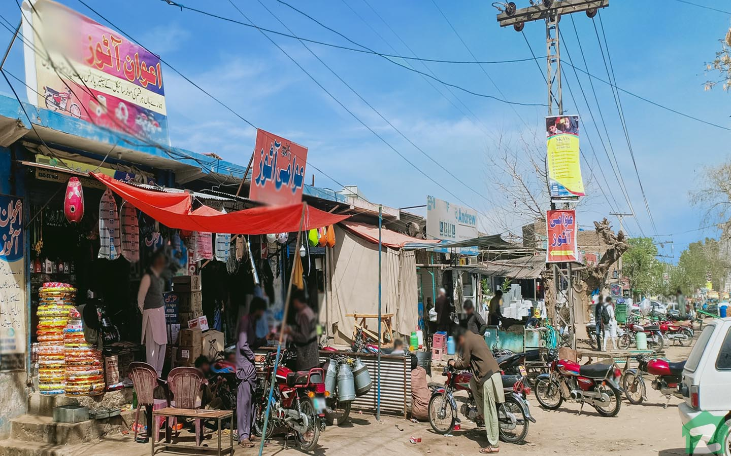markets and stalls on Chakri Road