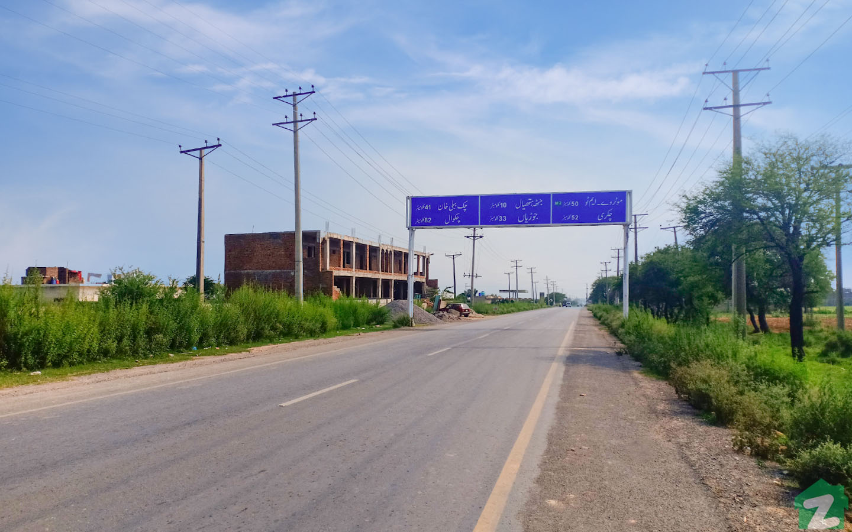 The main entrance of Chakbeli Road