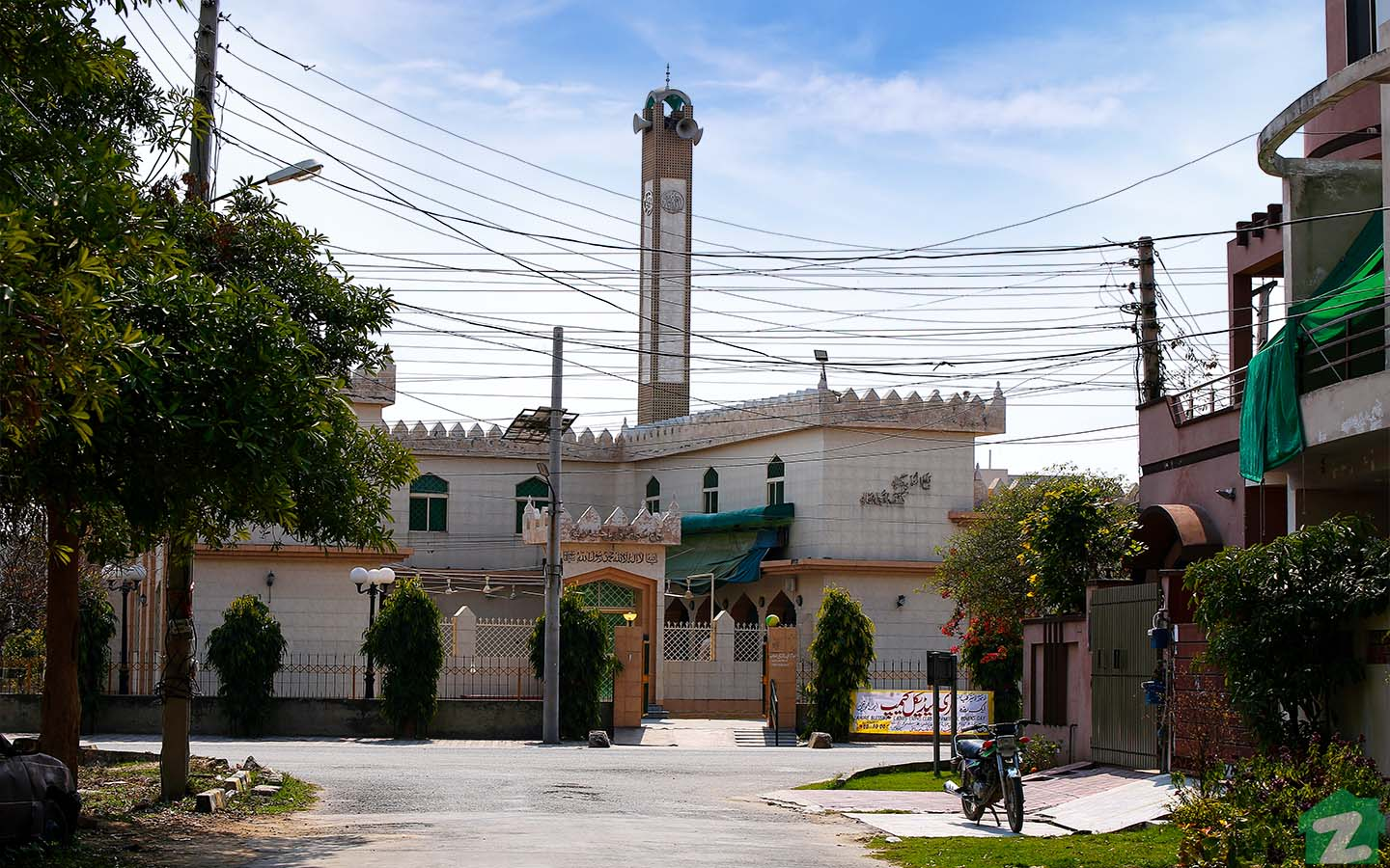 mosque in State life housing society