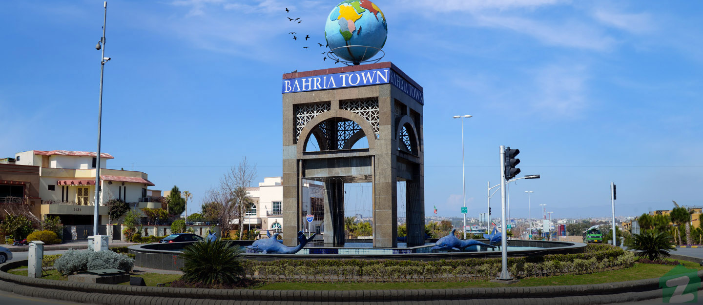 Entry point to Bahria Town Phase 8, Rawalpindi