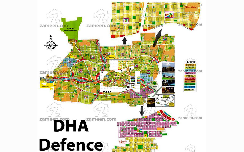DHA Multan Society Map