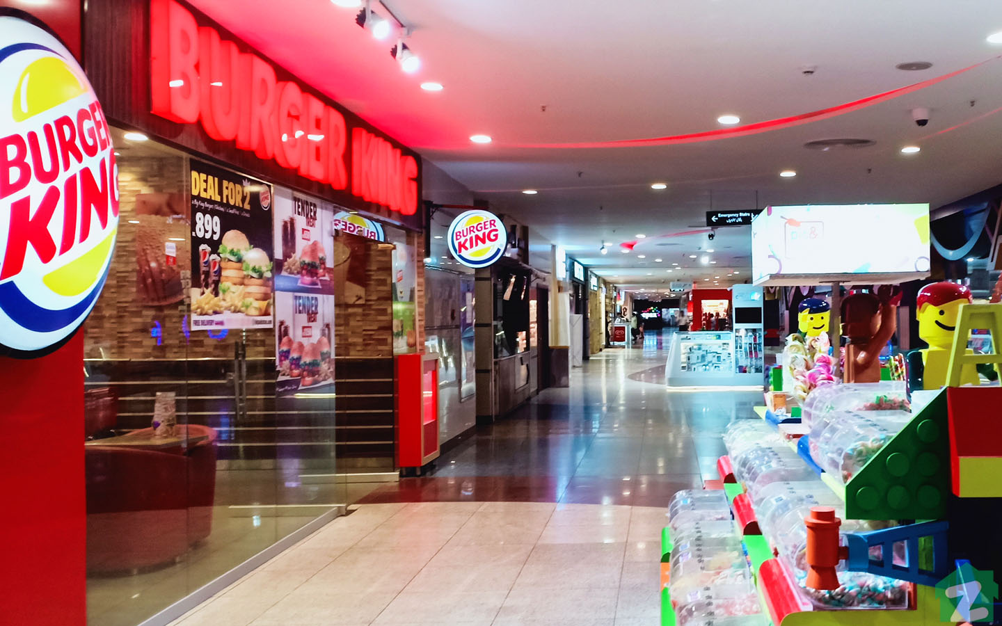 Giga mall also boasts a food court