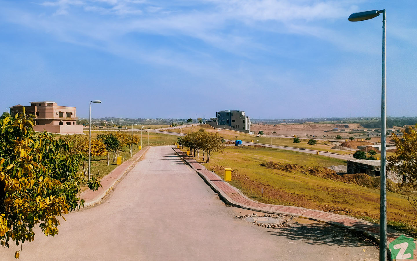 Street view of plots in Phase 3, DHA Islamabad
