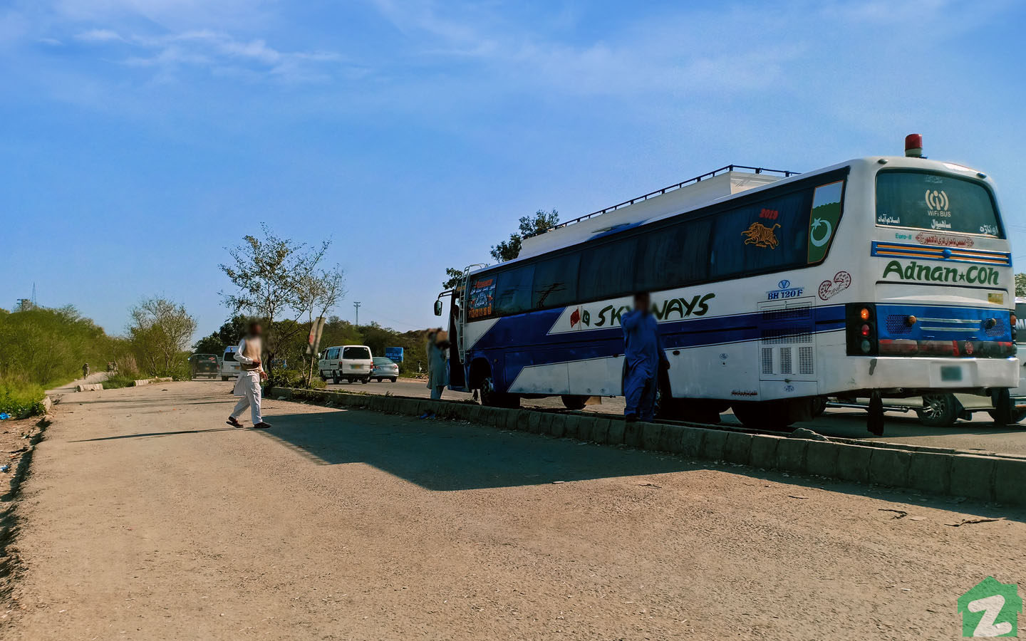 Picture of the Kahuta Bus Stop Near By