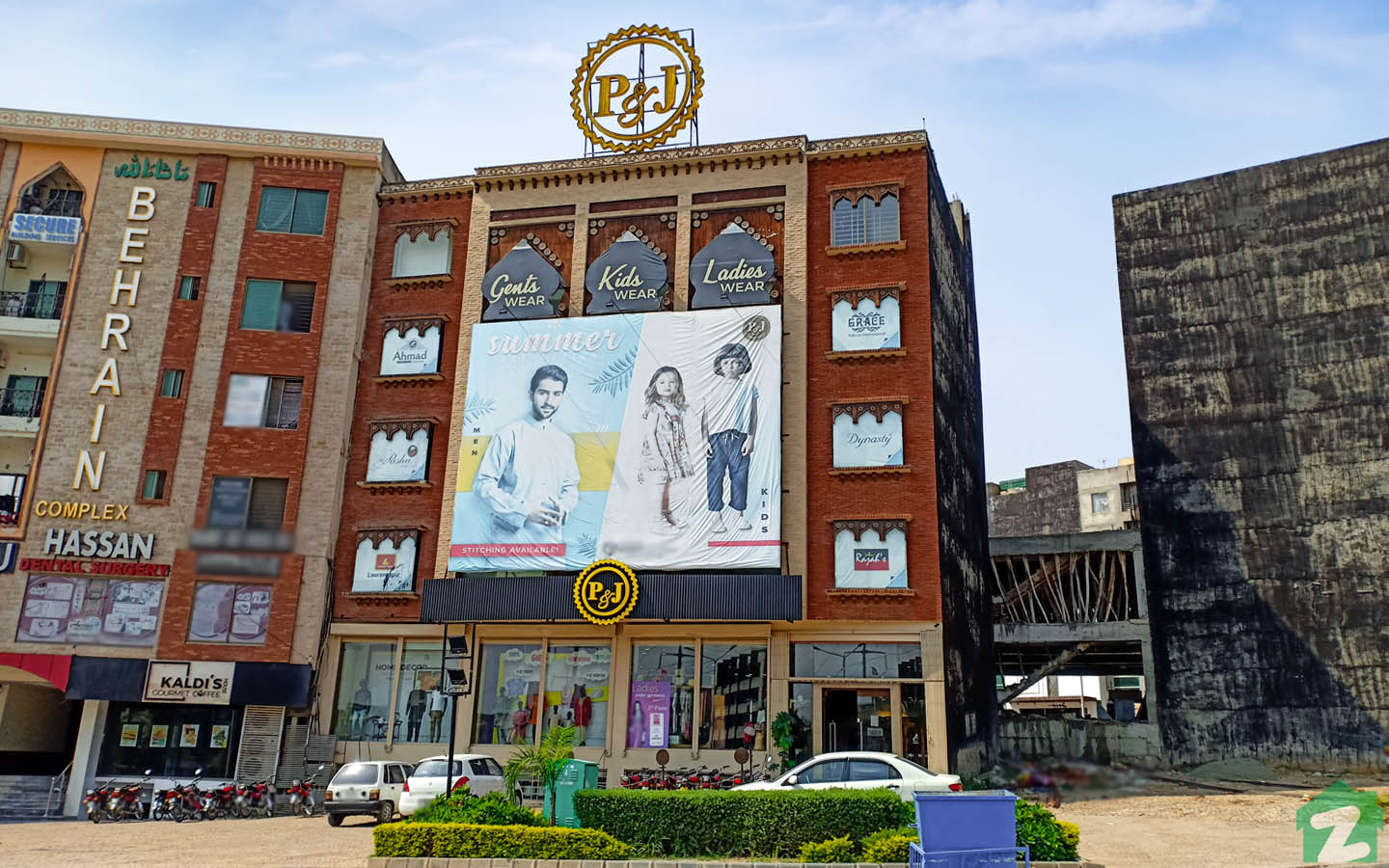 P&J Emporium Mall offers several retail outlets under one roof