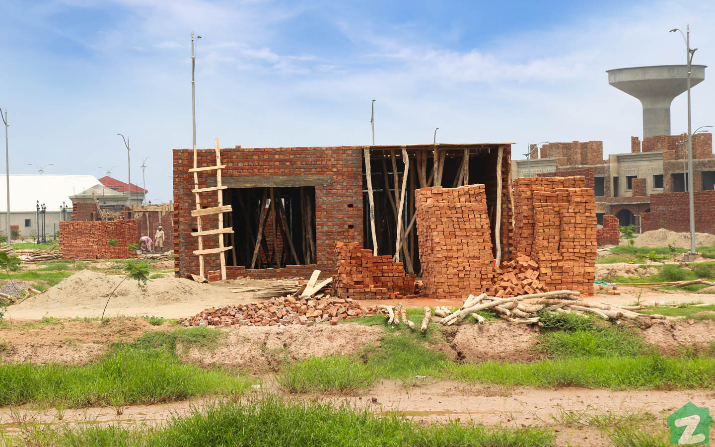 Houses being developed in Al Noor Orchard Lahore