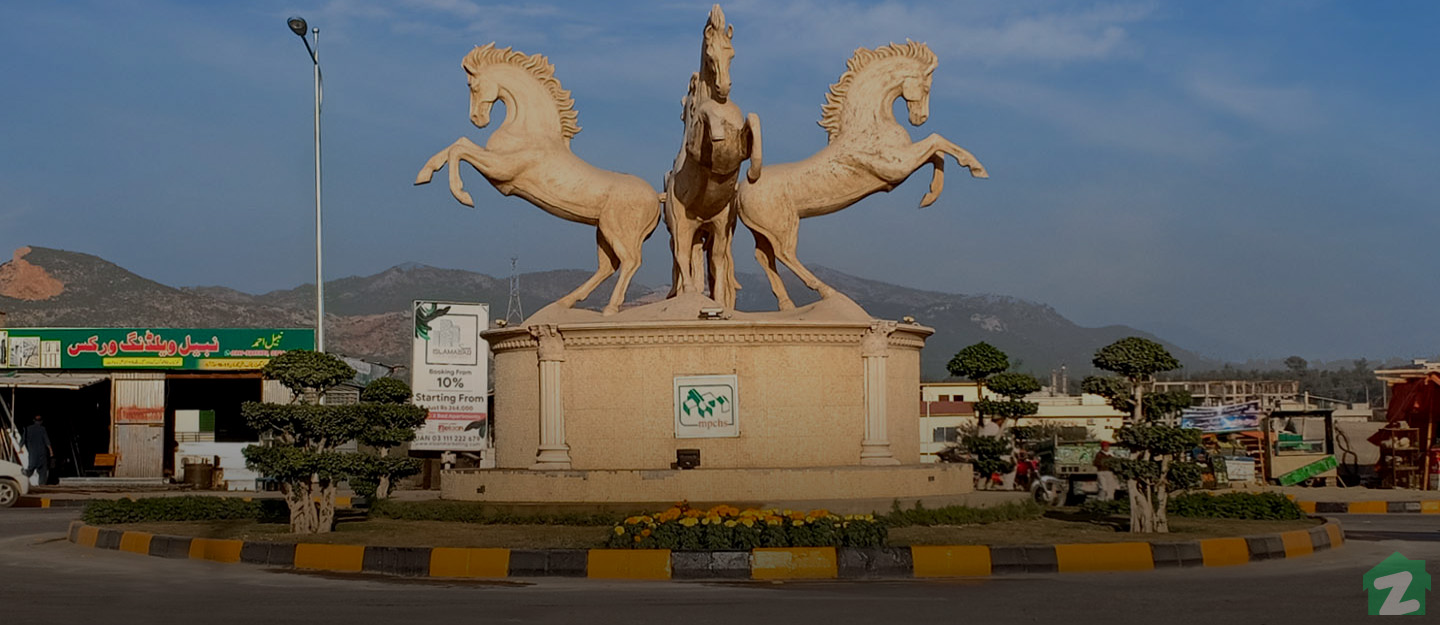 roundabout in B-17 Islamabad