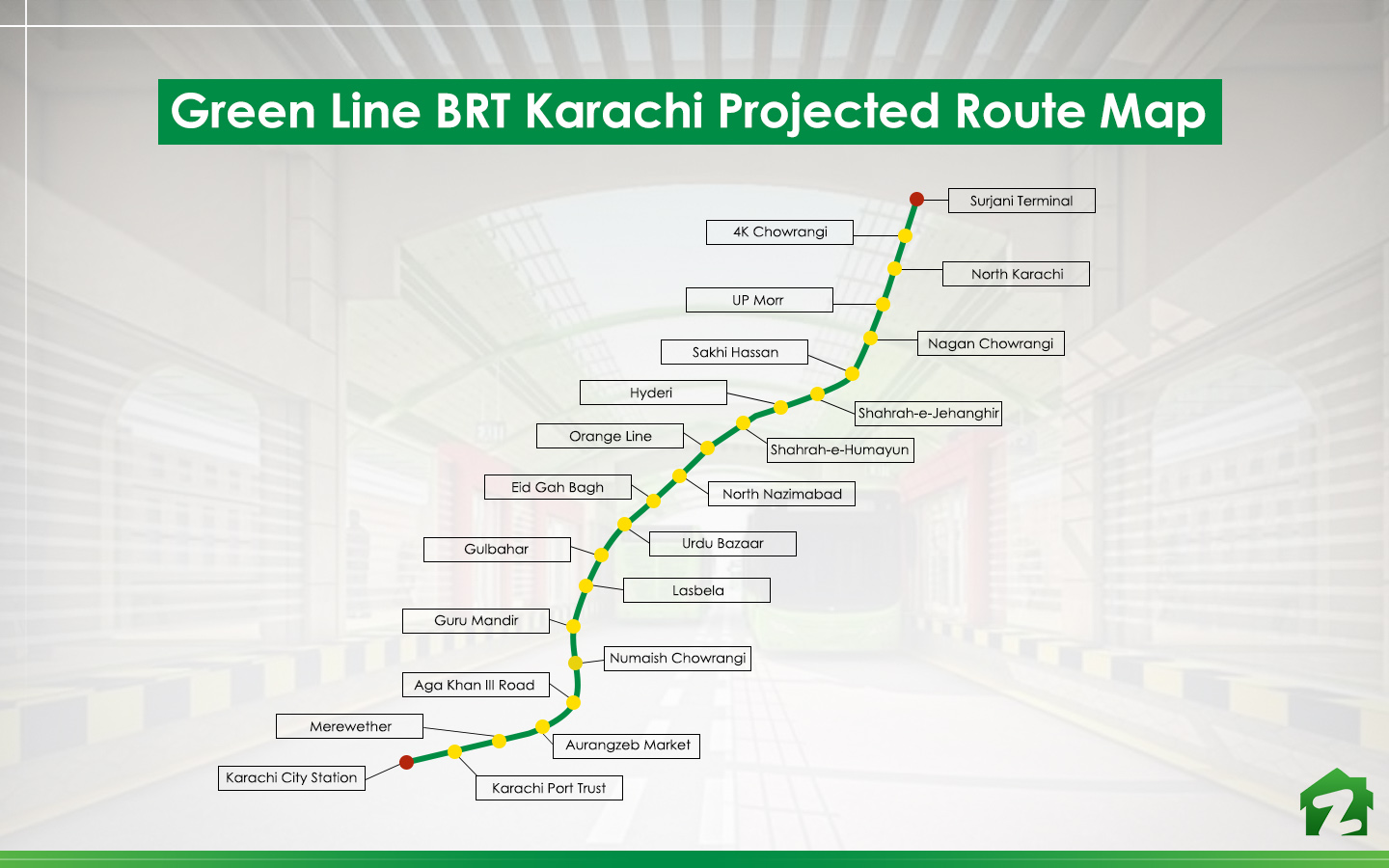Green Line is expected to solve many transport problems of Karachi.