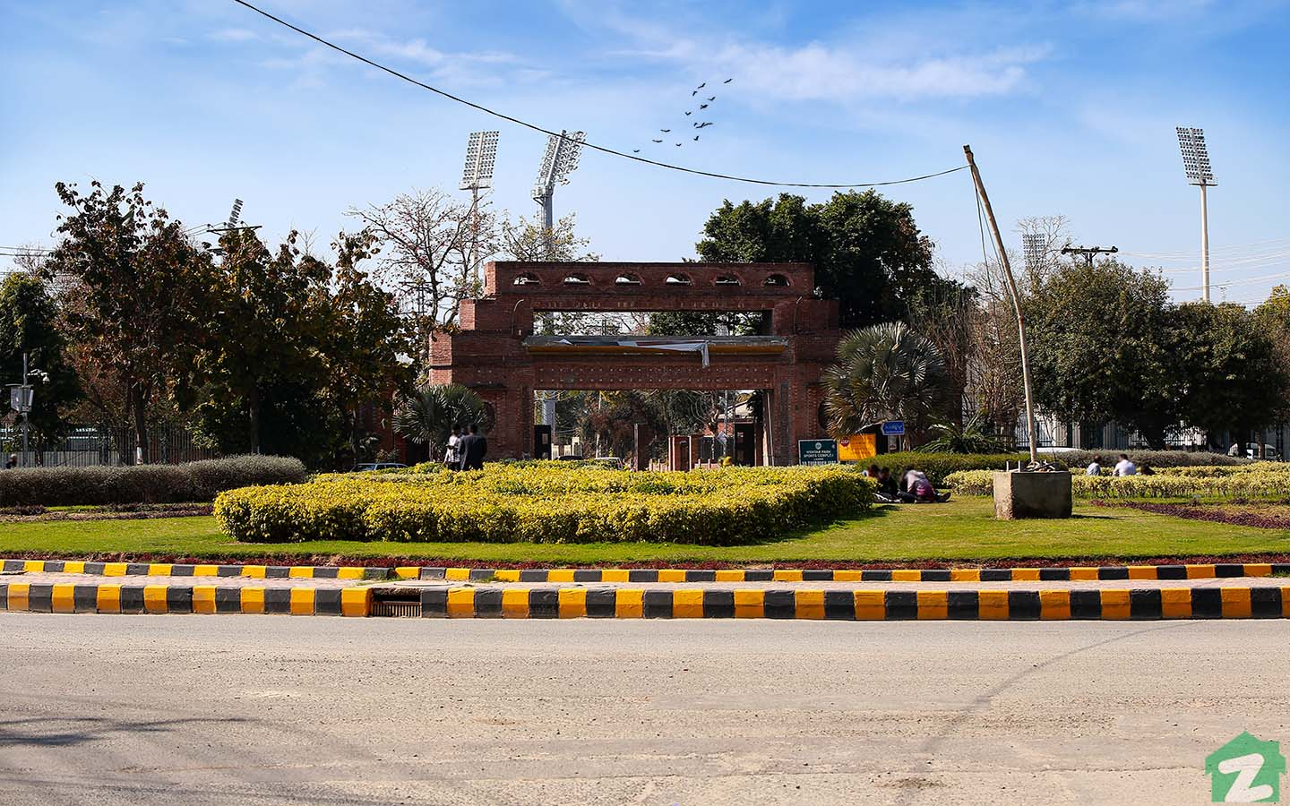 The famous Gaddafi Stadium is situated in Gulberg, Lahore.