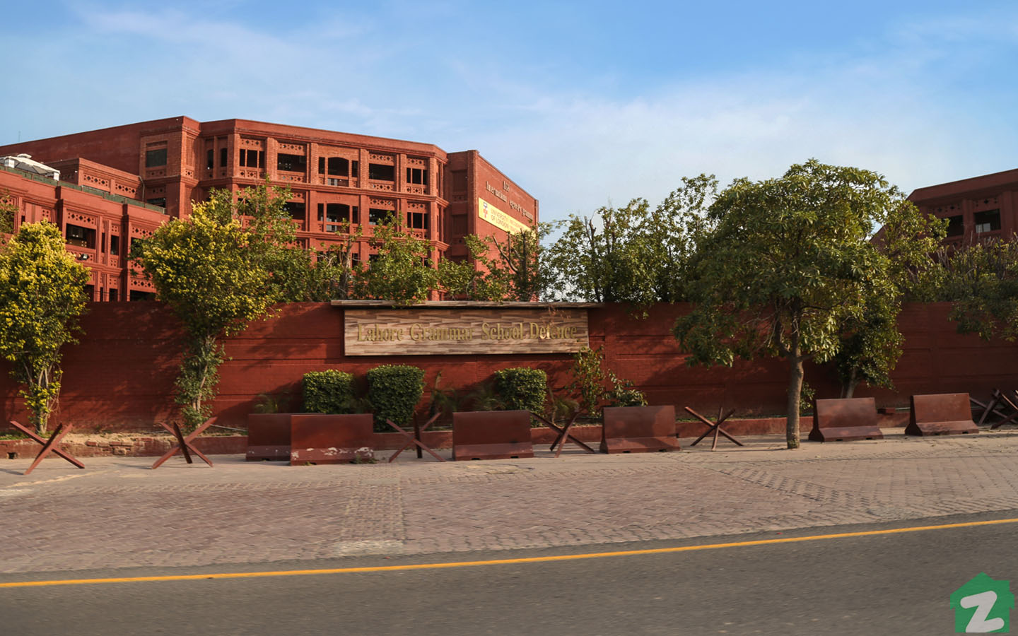 Lahore Grammar School is sited in Phase 5, DHA