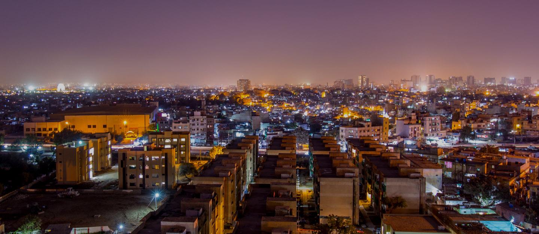 Top View of buildings in Sector 17-A, Scheme 33 Karachi