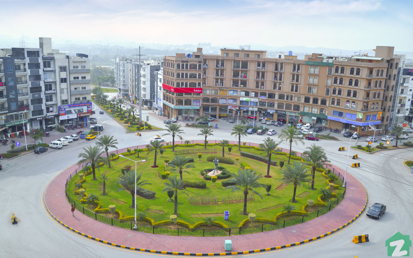 A Commercial Area Civic Centre in Phase 64 Bahria Town
