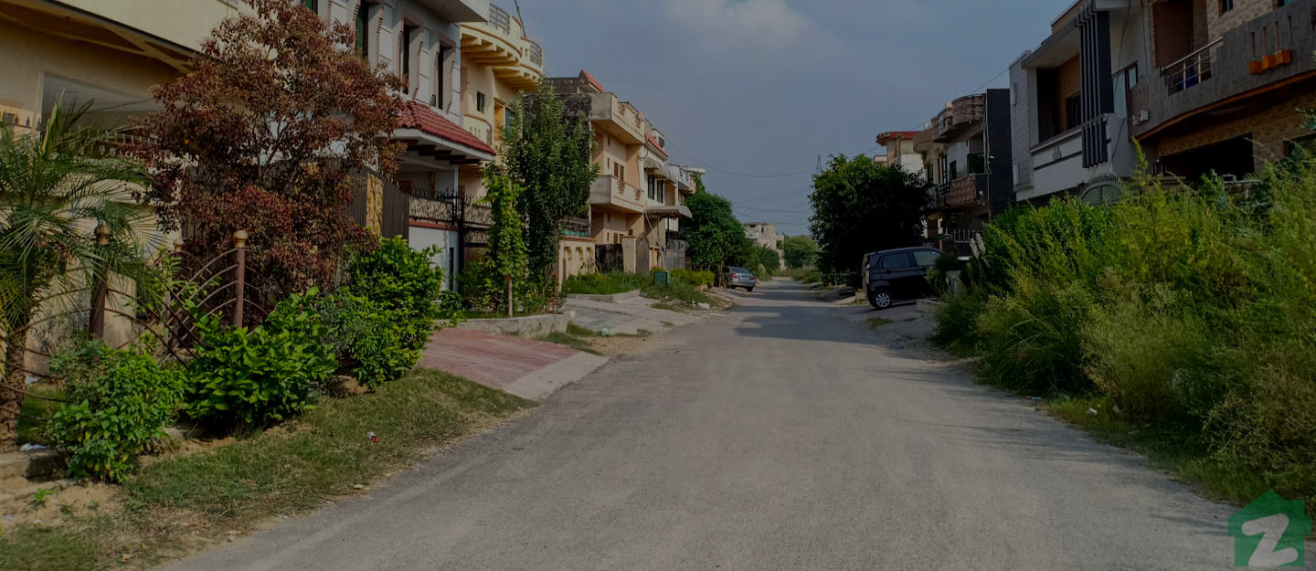 A street view of houses in G-15 Islamabad
