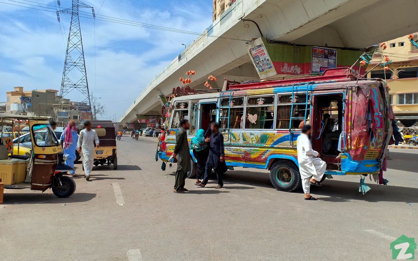 A busy route in Korangi Industrial Area