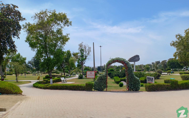 Inside view of Nisar Shaheed Park near Mehran Town, Korangi Karachi