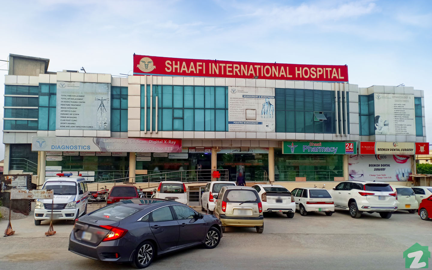 Shaafi International Hospital is operating on main PWD Road in Doctor's Town