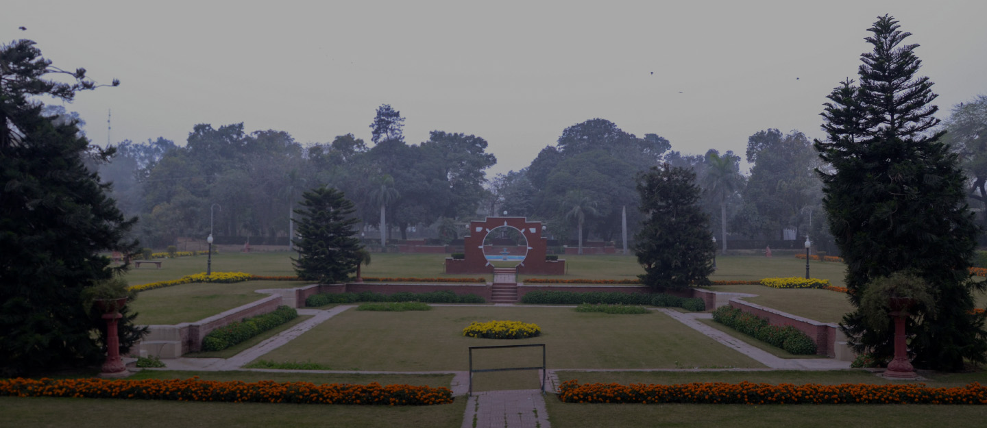 Bagh-e-Jinnah is beautiful with colourful flowerbeds.
