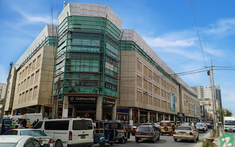 Street view of Dolmen Mall Tariq Road