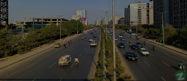Shahrah-e-Faisal near PECHS, Jamshed Town Karachi