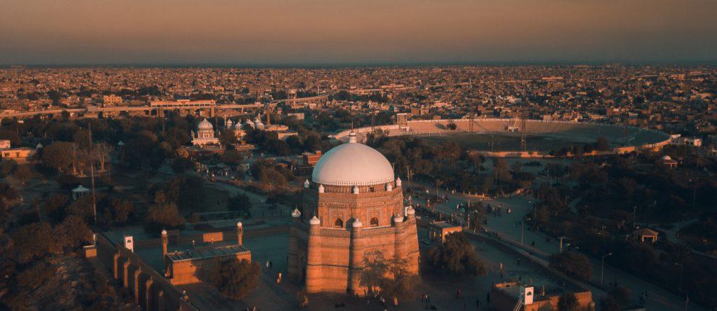 Tomb Shah Rukne Alam on Qilla Kohna Qasim Bagh Road is about 9 km away from WAPDA Town Multan