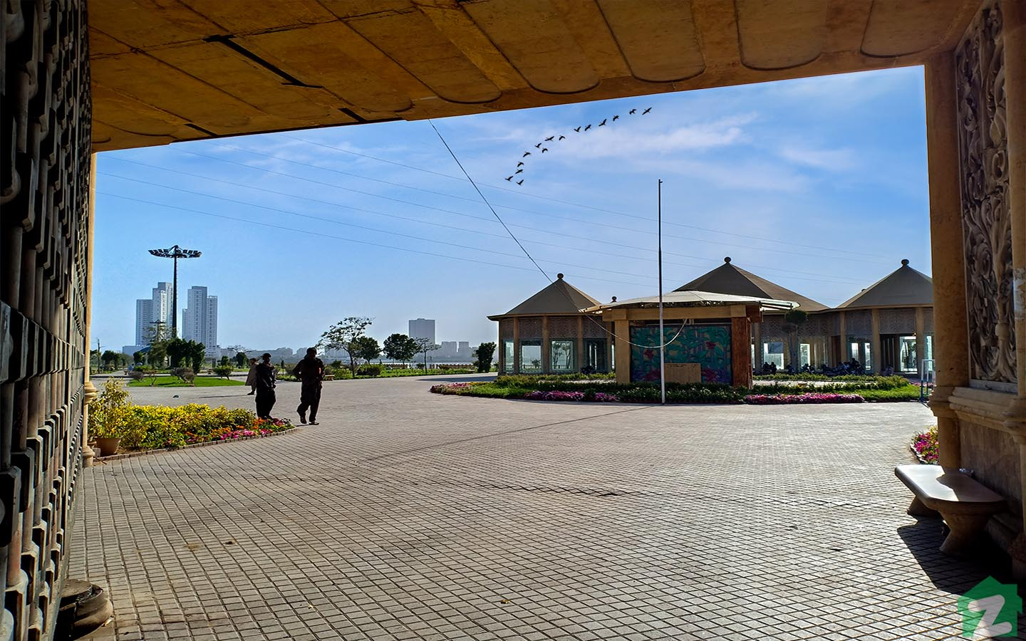 Shaheed Benazir Bhutto Park is beautiful with a large number of flowerbeds.