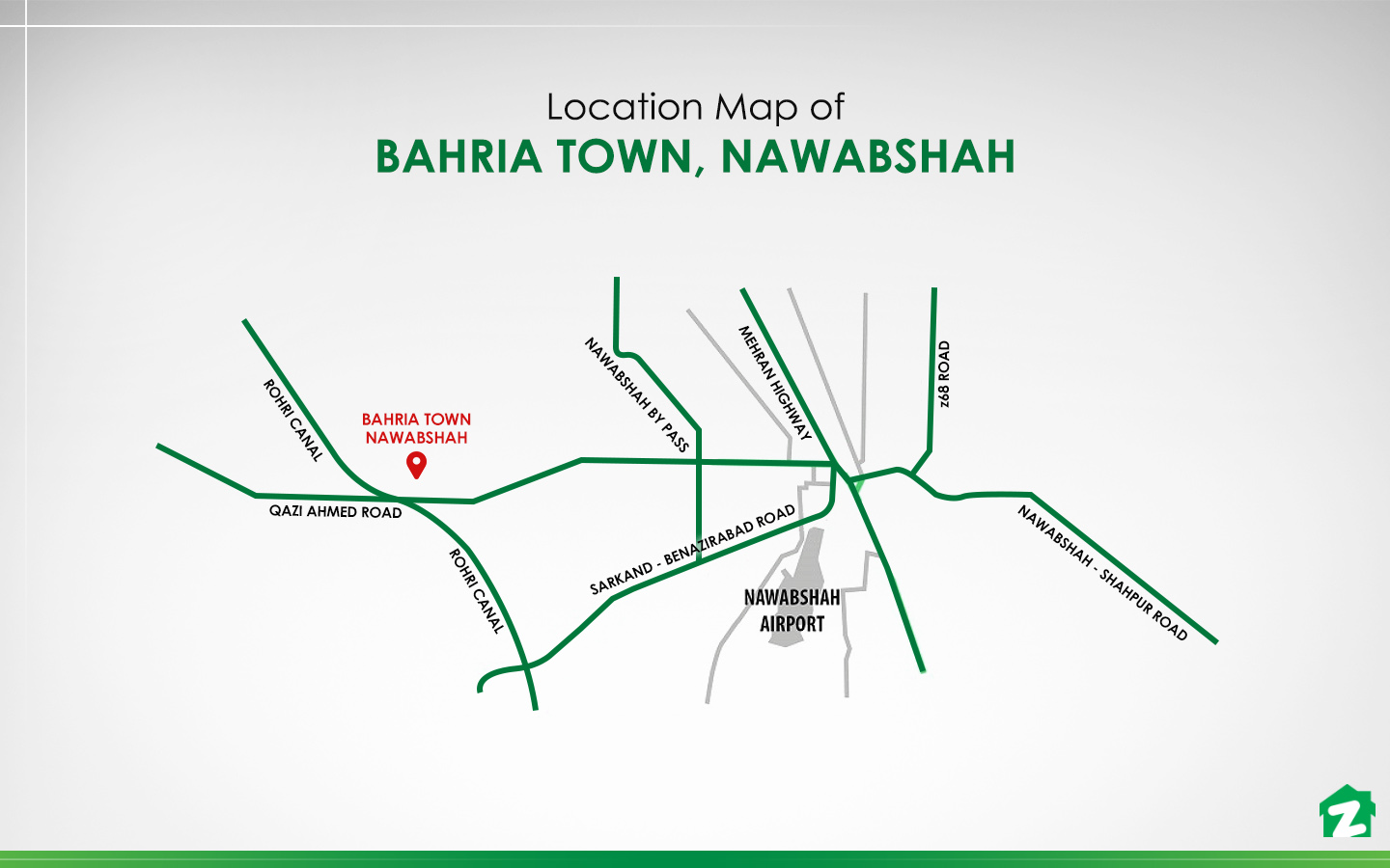 location map Bahria Town Nawabshah