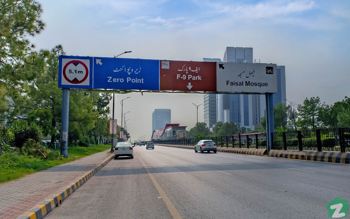 Jinnah Avenue is one of the most prominent roads in Islamabad
